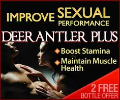Velvet Deer Antler has been used in oriental medicine for centuries to increase sexual desire and improve sexual performance. A great supplement if you need a boost and a lot more sexual drive and your partner will thank your for it!