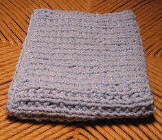 Free Knitting Pattern: Broken Rib Washcloth,  Instead of cast on 61 try 31 for a smaller face cloth?