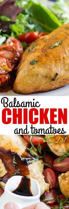 Breathe new life into boring chicken breasts with Balsamic Chicken and Tomatoes. This healthy, delicious meal takes just 4 ingredients and 30 minutes!