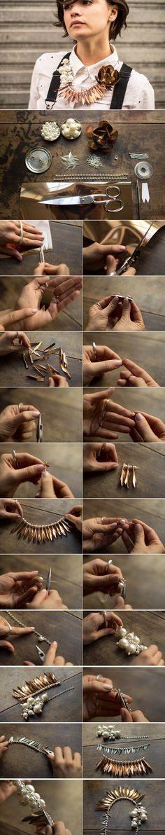 Do It Yourself Mode, Diy Necklace, Necklaces, Jewelry Making Tutorials, Just Giving, Diy Fashion, Jewelry Art, Bangles, Montage