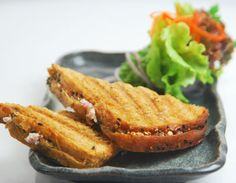 Mushroom Paneer Toast Toasted Bread Stuffed With A Mixture Of Mushrooms Tomatoes Cottage Cheese Chillies And Spices