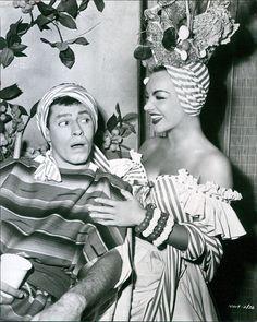 Jerry Lewis e Carmen Miranda