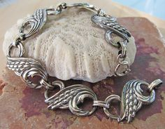 Danecraft Sterling Silver Wheat Bracelet by LemonCage on Etsy,