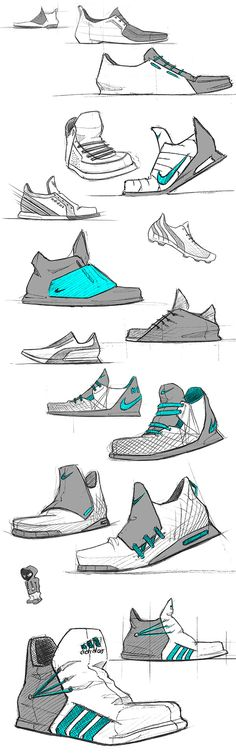 Shoes by Julien Fesquet, via Behance