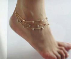#anklet#jewelry - tattoo idea plus could have some cute trinkets on it!