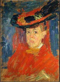 $109 Jawlensky, Alexei (1864-1941) - 1906 Portrait of the Artist Marianne von Werefkin (Wiesbaden Museum, Germany)  For more of Van Gogh's Oil paintings, Please visit http://www.painting-in-oil.com/artworks-Gogh-Vincent-van.html