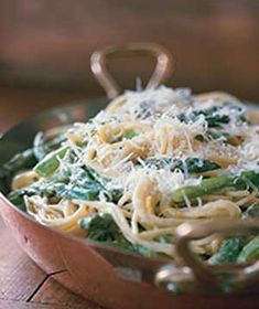 Asparagus-Goat Cheese Pasta from realsimple.com #myplate #vegetables #grain