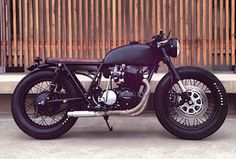 Black on Black Honda CB750 custom build from Seaweed & Gravel and Ugly Motorbikes. Bike of the Century This bike is the most sought bike for Cafe Racers and there is good reason. This bike can be modified in so many ways. The engine is super tight with only 20k miles.