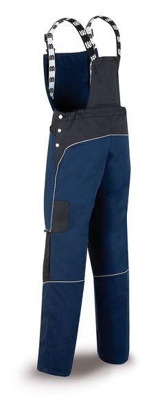 588-PETAN Vestuario Laboral Pro Series Peto tergal 245 g. Color azul marino/negro.
