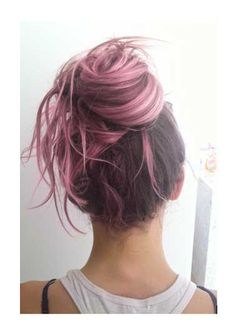 Brown pink ombre