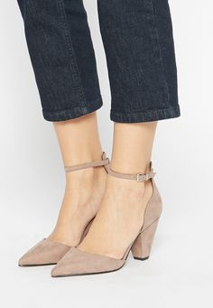 blush pointed-toe heels