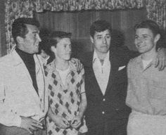 Ricky and David Nelson with Dean Martin and Jerry Lewis