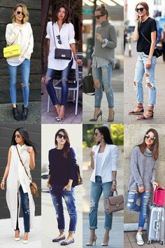 calça rasgada 5-vert Denim Fashion, Fashion Outfits, Womens Fashion, Fashion Trends, Jeans Fit, Ripped Jeans, Jean Outfits, Casual Outfits, Wedges Outfit