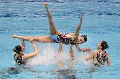 L'actualité des dernières 48H en images - L'équipe japonaise de natation synchronisée en pleine démonstration artistique à Tokyo