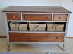 Old Dresser ith a broken drawer? Great redo via Fab Rehab Creations!! #painted #dresser #upcycle furniture