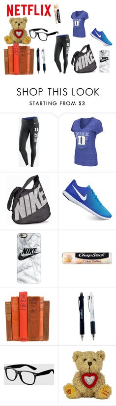 """All I need for colledge"" by amayaleigh ❤ liked on Polyvore featuring NIKE, Casetify, Chapstick and La Senza"