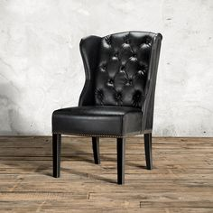 Make Your Dining Room More Chic With Tufted Dining Chair For Furniture Ideas: Black Leather Tufted Dining Chairwith Nailhead Trim For Home Furniture Ideas