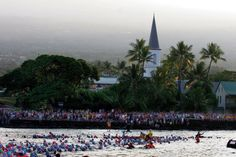 Hawaii Ironman World Championship swim start 2011. By Randy Wrighthouse