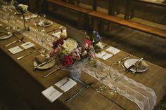 Lace Hessian Table Runner Cloths Decor Fun Music Rustic Barn Wedding…