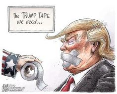 A roundup of funny and provocative cartoons about Donald Trump and his presidential administration.: The Trump Tape We Need