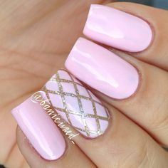 Pink Nails. Nail art. Nail design. Polish. By banicured_