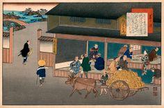At Kusatsu (station Kita and Yaji discuss the merits of the teahouse. Ibaraki, Gunma, Japan Painting, Chiba, Saitama, A Comics, Asian Art, Kyoto, Japanese