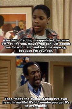 My dad is a bit of a comedian in a sense. And sometimes he seems to take a bit after Bill Cosby or some humor from other shows from back in the day. Tv Show Quotes, Movie Quotes, Funny Quotes, Funny Memes, Hilarious, Radios, Tv Show Family, The Cosby Show, Bill Cosby