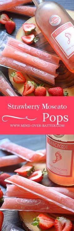 Ice pops, the quintessential childhood treat just got boozy! Then you can enjoy these Strawberry Moscato Ice Pops! Fun Drinks, Yummy Drinks, Alcoholic Drinks, Yummy Food, Beverages, Fun Summer Drinks Alcohol, Mixed Drinks, Strawberry Moscato, Le Diner