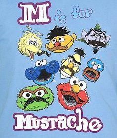 M is for Mustache - Sesame Street