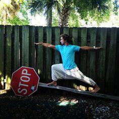 @johnlmapel #warrior #yoga #tybee #buddhapants #aok #alloutkiteboarding #yogaeverydamnday