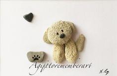 """ the little Maltese"" #agifttorememberart #pebbleart #stones #nature #dogs #puppy #makersgonnamake #etsy #frame #maltese #shitzu #australia art #handmade #instaphoto #instagood #instaart #photooftheday #love #cute #animals #gift #roomdecor #craft #artwork #madebyme #neshatghaffari"