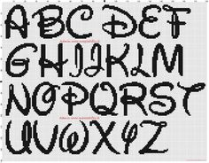Alfabeto Disney 30x30 crocette a punto croce (click to view)