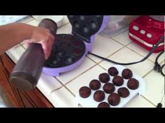 step-by-step cake pop making using a babycakes. Very detailed, 10 minutes. I need to watch this.