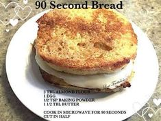90 second bread - 323 calories, 3g net carbs, 30.5g fat & 9.9g protein...tasted a bit to eggy to me.