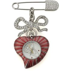 Vivienne Westwood Vivienne Westwood Heart Brooch Watch ($320) ❤ liked on Polyvore