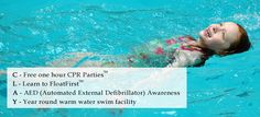 Toddler & Child Swim Safety by the CLAY Foundation {CPR; Learning to float Automated external defibrillator awareness; and year-round swim facility}