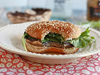 Healthy Eating on the Cheap: 3 Vegetarian Comfort-Food Recipes - Health News and Views - Health.com Portobello and goat cheese burgers