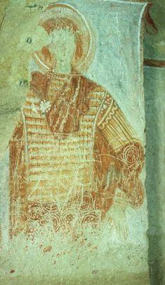 The Military Saint. Hidden Church (Sakli Kilise) Cappadocia, Byzantine, 11th Century