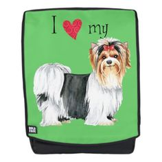 I Love my Biewer Terrier Backpack   pug valentine, baby pugs, pug background #myfriendloveme #pugs #instapug Beagle Dog, Boxer Dogs, Cute Little Dogs, I Love Dogs, Border Collie, Biewer Yorkshire, Terrier, Australian Cattle Dog, Dog Quotes