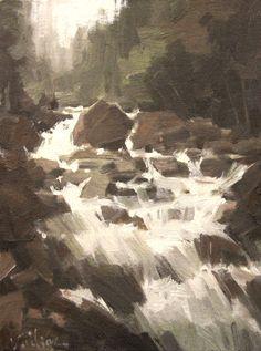 Vadim Zanginian Nature Paintings, Landscape Paintings, Waterfall Paintings, Water Element, Art Boards, Pastels, Artworks, Artist, Inspiration