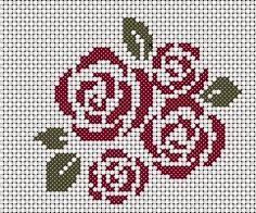 Бесплатные вышивки крестом розы