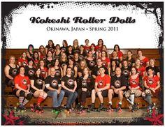 ROLLER DERBY: Kokeshi Roller Dolls League Photo Spring 2011