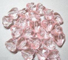 100 pink acrylic hearts 8.5 mm is going up for auction at  5pm Mon, Apr 29 with a starting bid of $20.