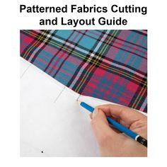 How to match patterns in fabric Pattern Matching, Sewing Techniques, Free Sewing, Sewing Tutorials, Fabric Patterns, Stripes, Layout, Learning, Prints