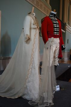 Wedding outfits worn by Alan Rickman and Kate Winslet as Colonel Brandon and Marianne Dashwood in Sense and Sensibility (1995 movie) -early 1800's style ?