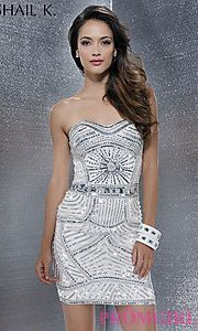 Buy Strapless Sequin Covered Dress at PromGirl