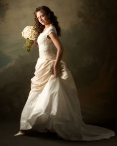 Modest Wedding Dresses by Alta Moda Bridal- this looks like a painting