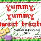 Place these sweet treats into a literacy station for your students to sort the words into antonyms or synonyms.  Includes a worksheet.  Enjoy!...