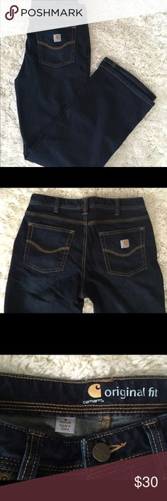 Women's Carhartt Original Fit Jeans Size 8 Regular NWOT Women's Carhartt Original Fit jeans in a size 8 regular. Never worn and in great shape.🌺 Jeans