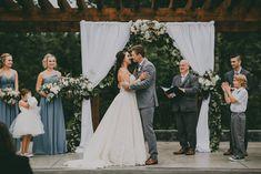 Outdoor Wedding Venue with Drape and Florals {Alicia Strathearn Photography} #RedwoodsWeddings #wedding #outdoorwedding #summerwedding   #weddingceremony  #weddingdress #weddingcolors #britishcolumbia #canada #weddingvenues #vancouver  #westcoast #theknot #realwedding #pnw #ido #bridal  #bridalparty #bridesmaid #groomsmen #weddingstyle #weddingtrends #florals #flowers #weddingflowers #weddingphotography #weddingphoto